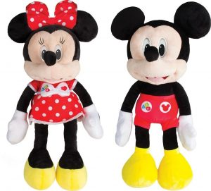 Peluche Mickey et Minnie interactif